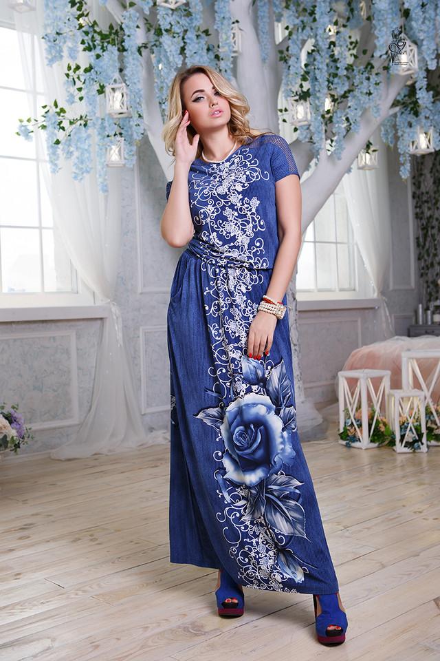 Цвет-8 Длинного ботального летнего платья Ирма