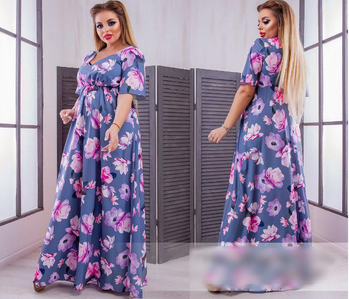 23498a6278c Летнее платье макси батал