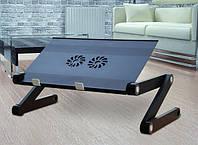Столик трансформер для ноутбука с вентилятором 17''