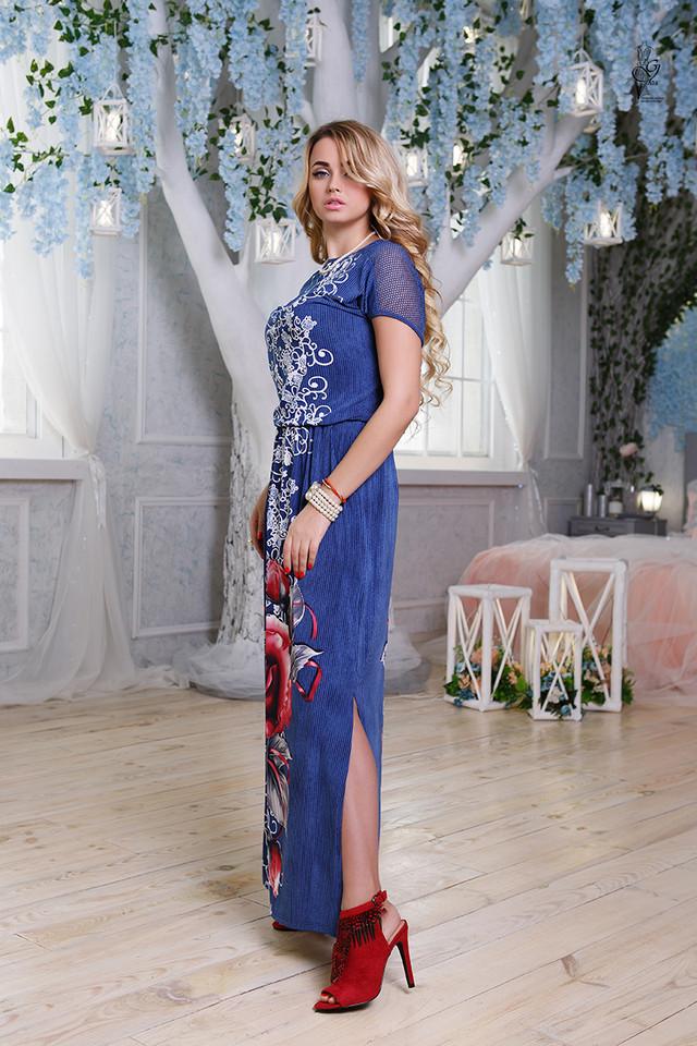 Фото-1 Длинного ботального летнего платья Ирма-4