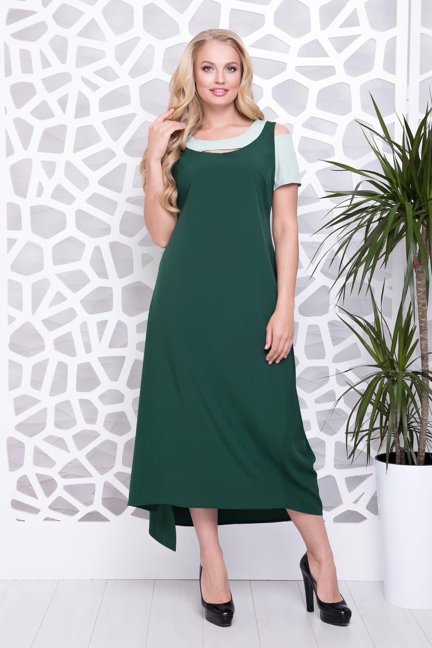 Платье Анэт р 50-56 зеленый