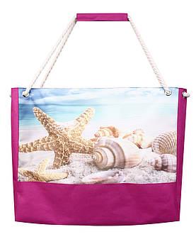 Сумка для пляжа Морская звезда малина