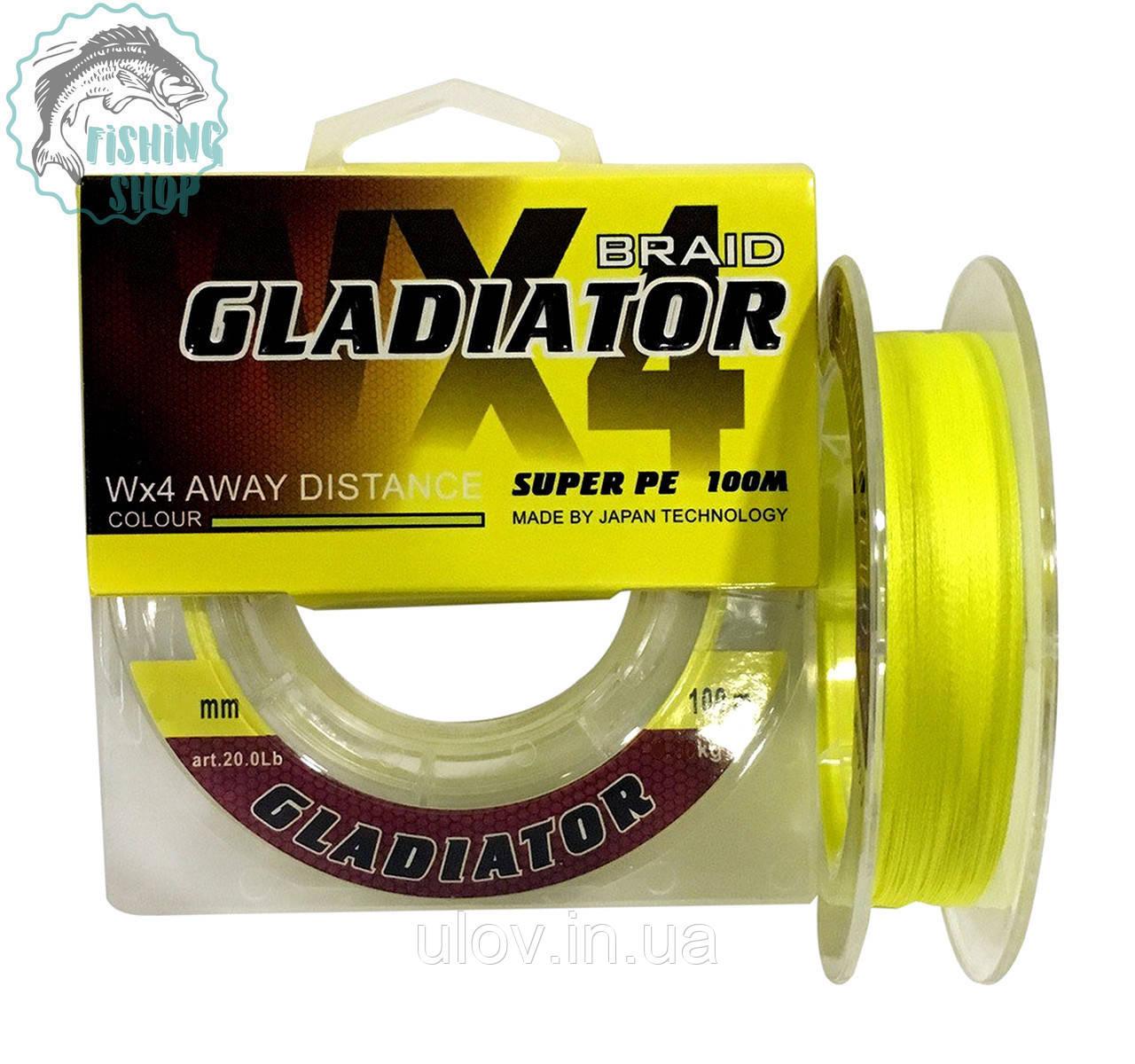 Шнур GLADIATOR super pe WX 4 100м 0.18