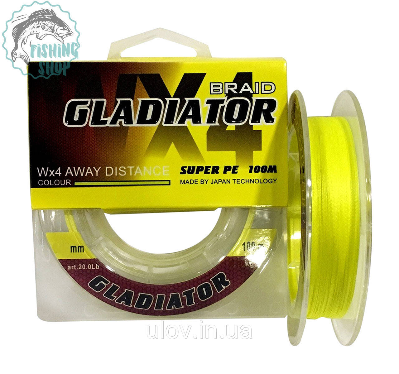 Шнур GLADIATOR super pe WX 4 100м 0.20