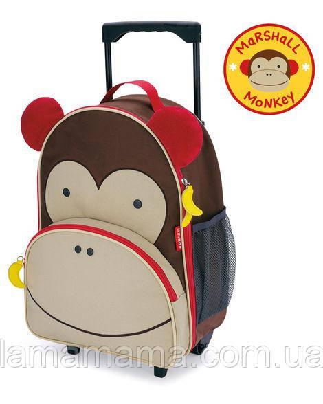 Детский чемодан на колесиках Обезьянка Скип Хоп Skip Hop Zoo Kids Rolling Luggage