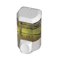 Дозатор мила рідкого пластик прозорий білий 0,35 л Acqualba