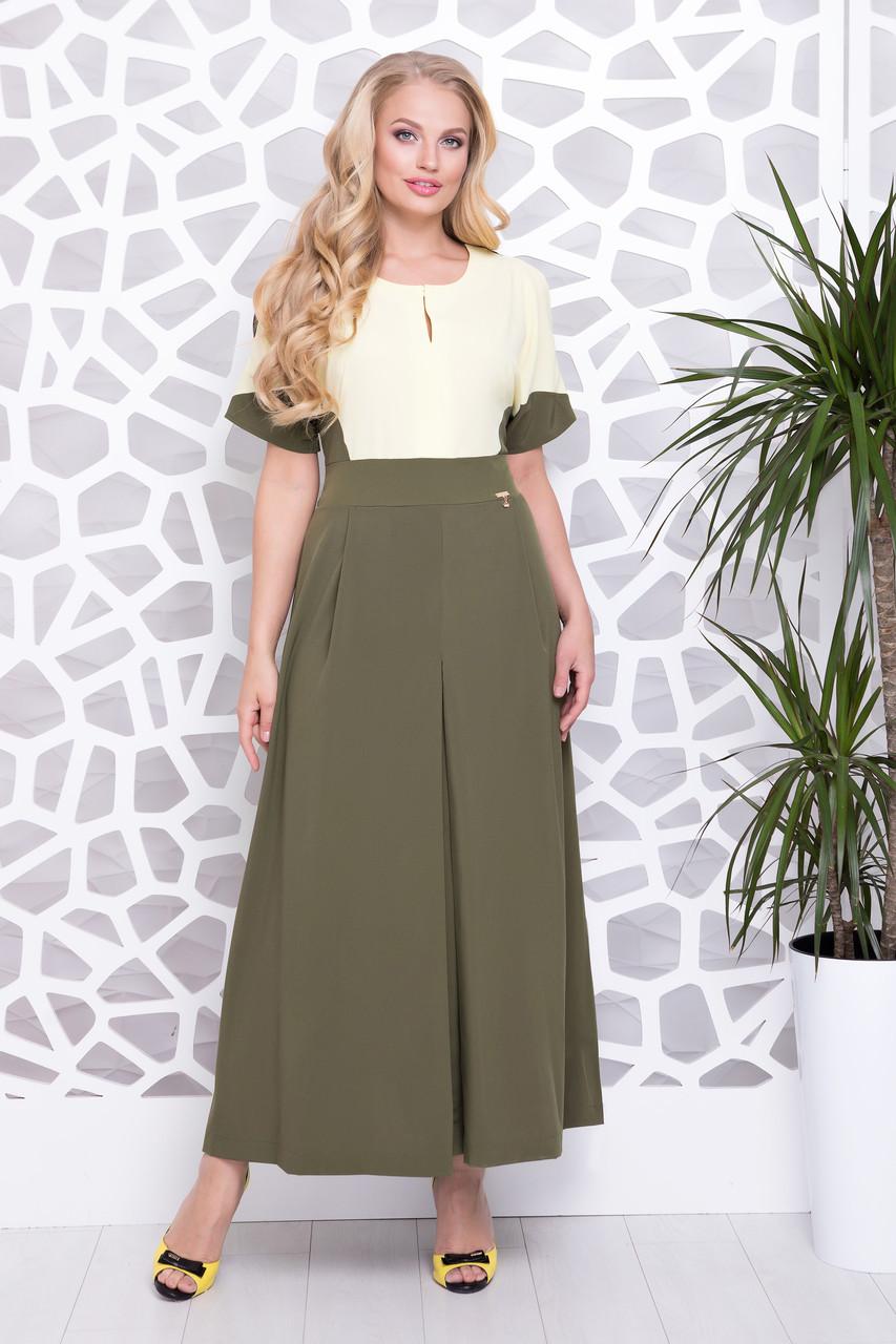 Платье Ния р 50-56 зеленый