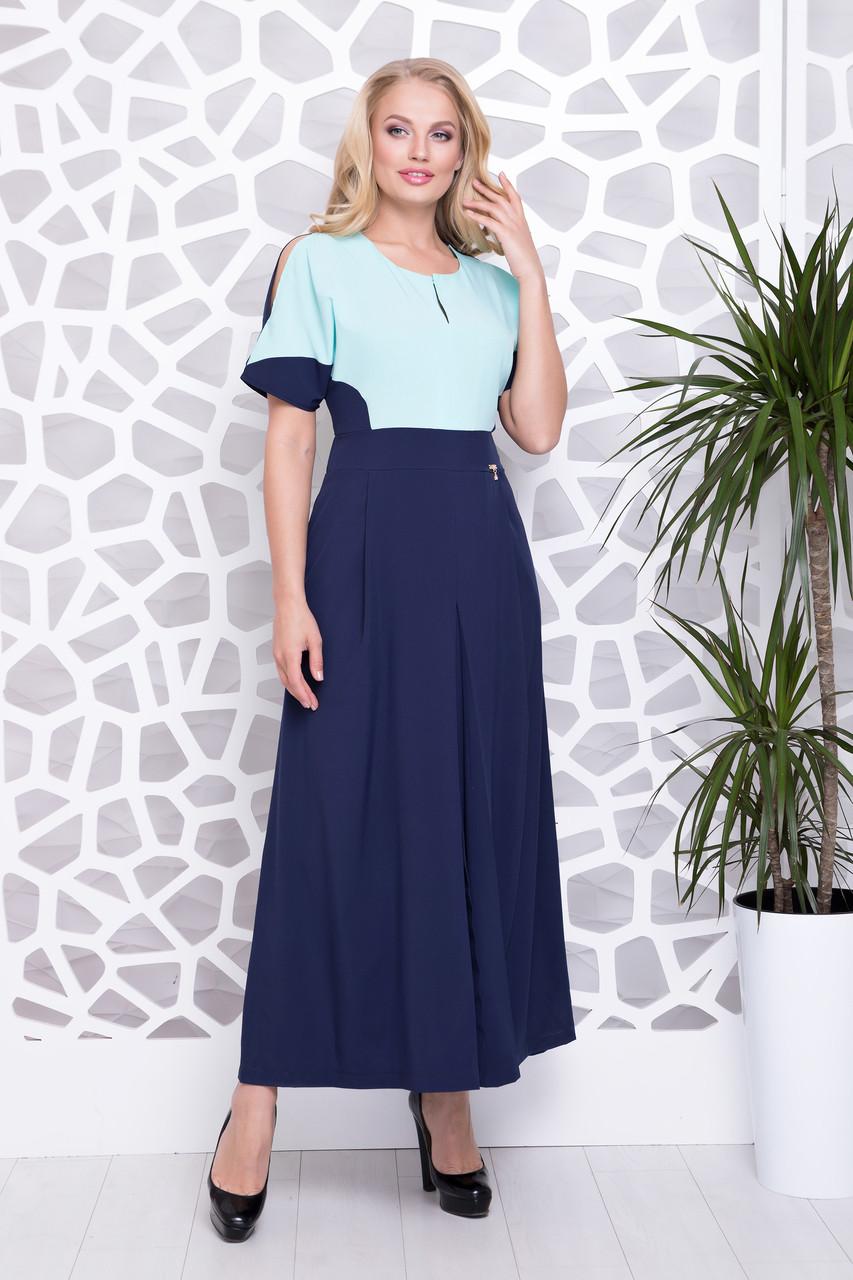 Платье Ния р 50-56 синий