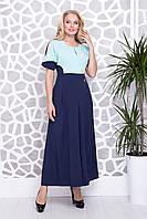Платье Ния р 50-56 синий, фото 1
