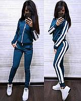 Стильный спортивный костюм женский батал (арт. 639902351/Б)