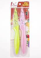 Набор ножей кухонных 2шт на листе лезвие с рисунком 24шт/уп 23962