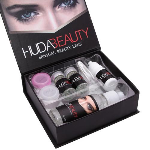 Линзы косметические цветные Huda Beauty Turquoise (бирюзовые)
