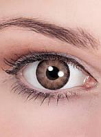 Декоративные контактные коричневые линзы