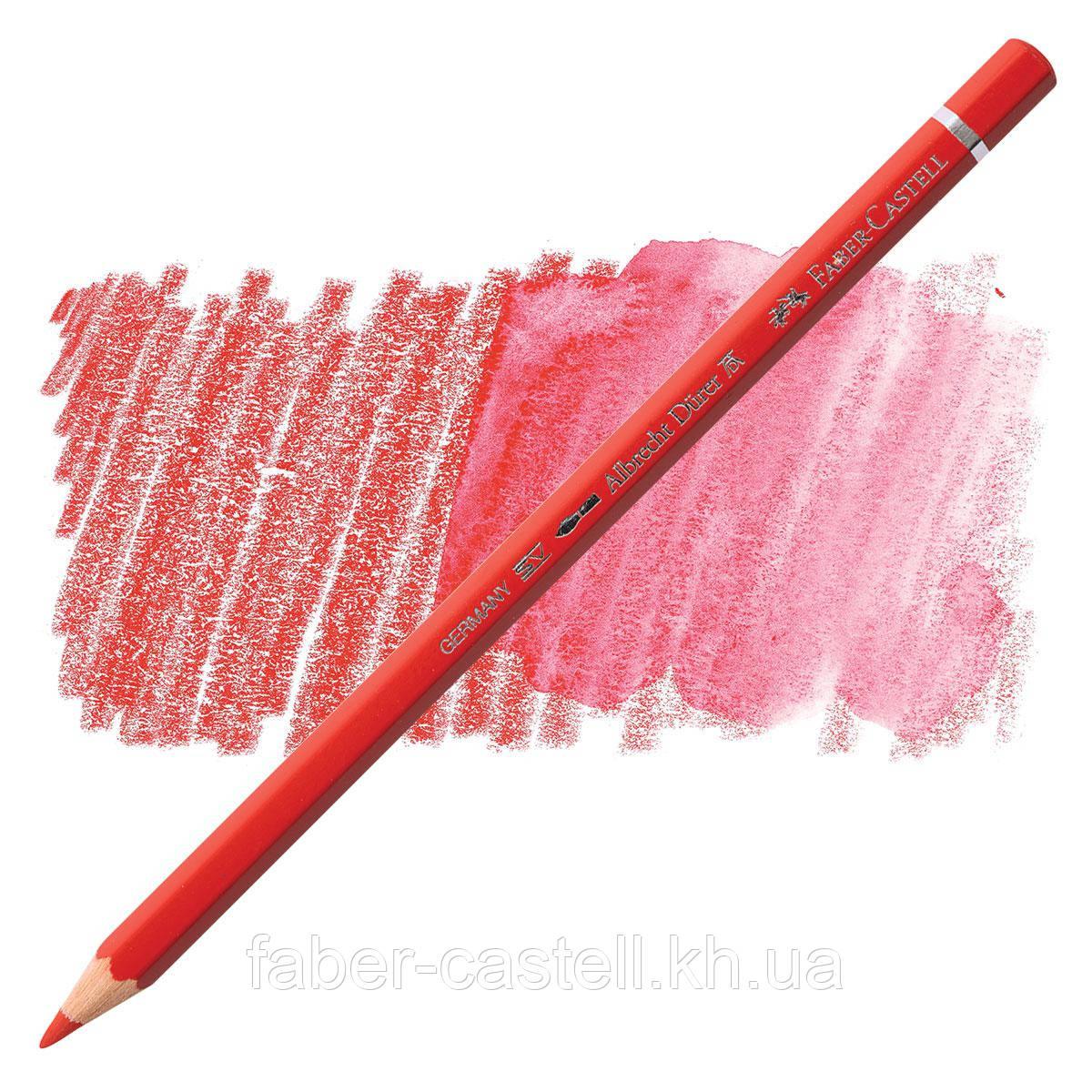 Карандаш акварельный цветной Faber-Castell Albrecht Dürer пурпурный красный (Scarlet Red)  № 118, 117618