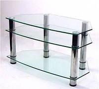 """Тумба ТВ Maxi D 900 """"прозрачный"""" стекло, хром, фото 1"""