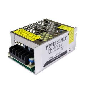 Блок питания 60W для светодиодной ленты DC12 5А TR-60-12 металлический