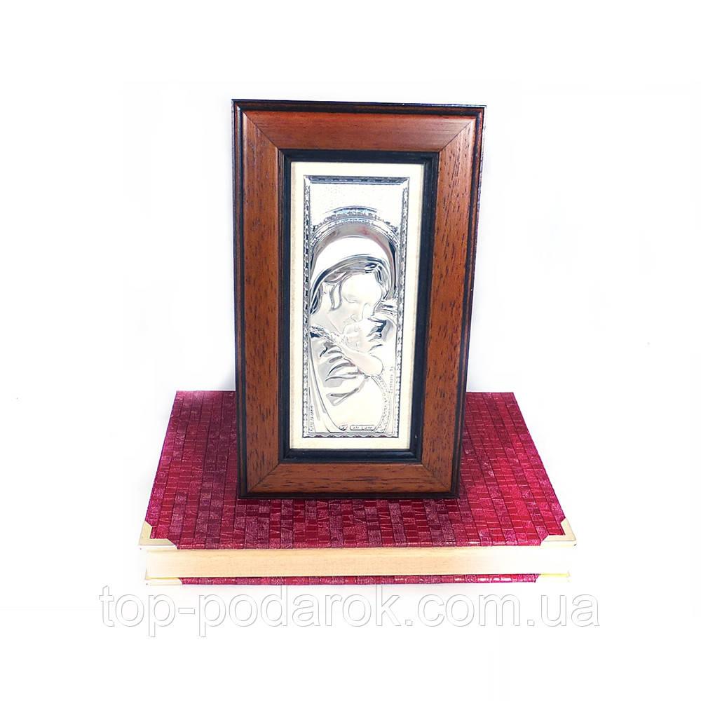 Образ Святая Мария в деревянной шкатулке