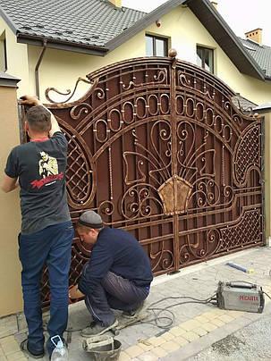 Ворота ковані Бостон 2, фото 2