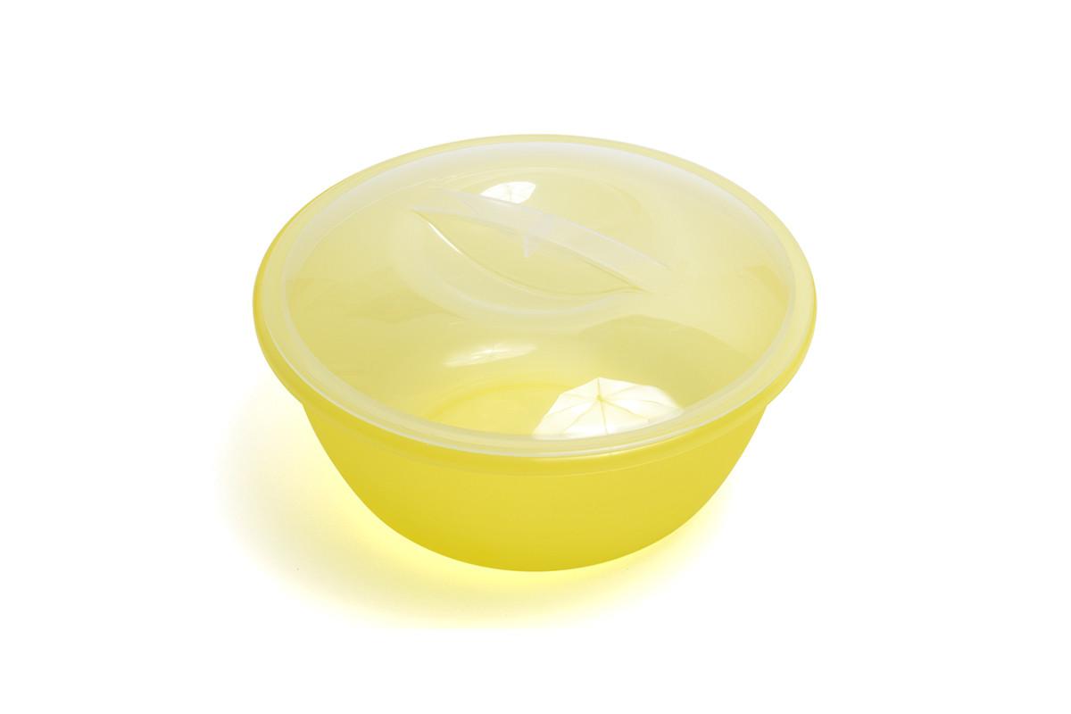 Миска салатная с крышкой прозрачная 3л