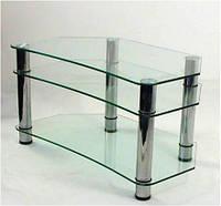 "Тумба ТВ Maxi E 900 ""прозрачный"" стекло, хром, фото 1"