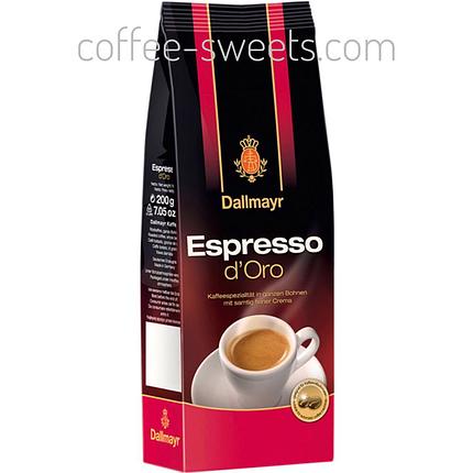 Кофе Dallmayr Espresso d'Oro зерно 200г, фото 2