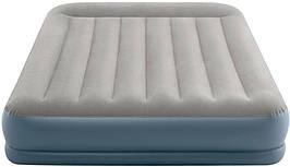 Надувне Ліжко Intex 64118 Mid-Rice Airbed + Вбудований Насос 220v