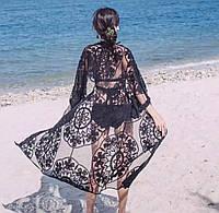 Пляжный гипюровый халатик