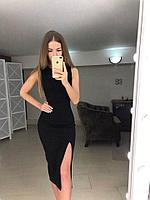 Облегающее летнее платье с вырезом  на ноге, фото 1