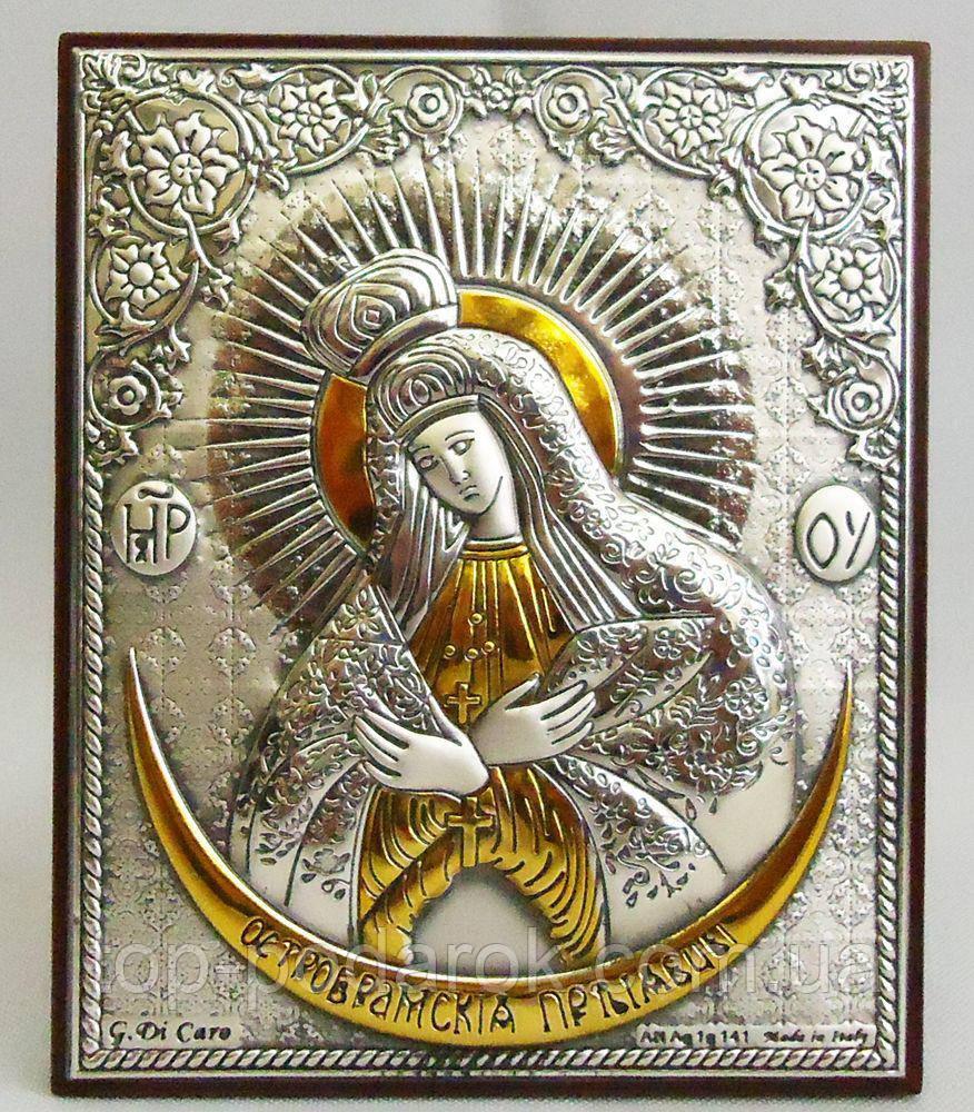 Зарваницька ікона Божої Матері на дерев'яній основі в шкатулці