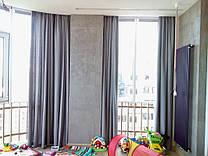 Шторы блэкаут для киевской квартиры в стиле Лофт