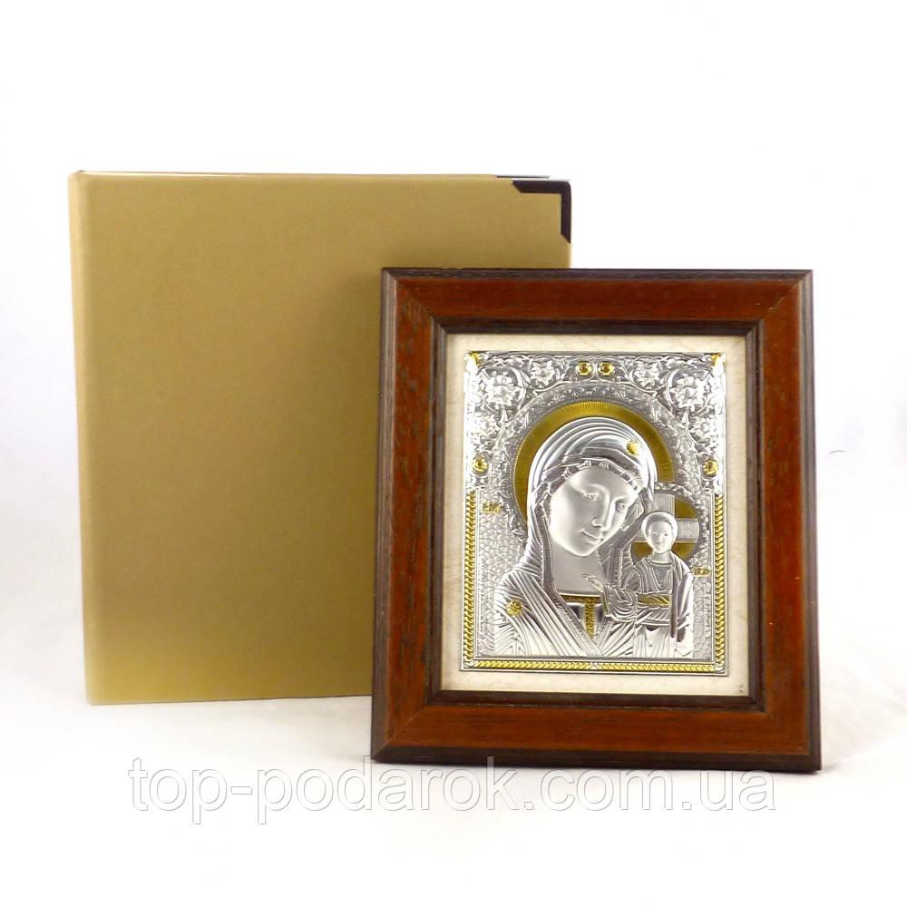 Икона Казанская в деревянной рамке в шкатулке