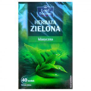Чай Lord Nelson пакетированный зеленый 40 пакетиков