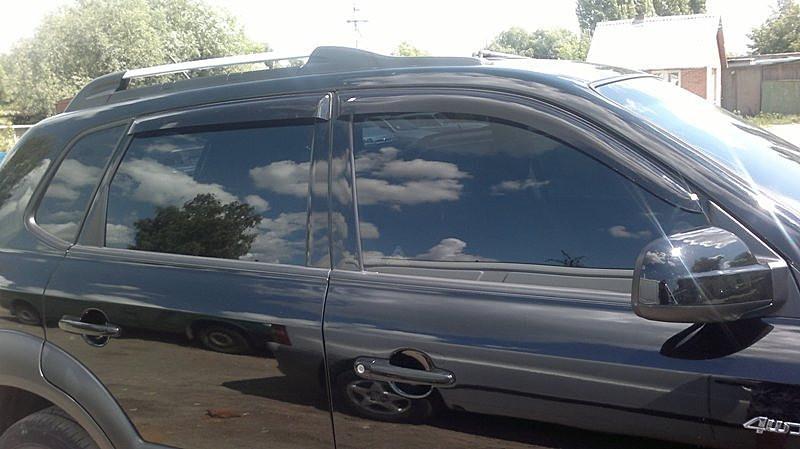 Дефлекторы окон ветровики на HYUNDAI ХУНДАЙ Хендай Tucson 2004