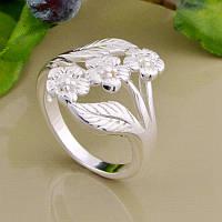 Объемное женское кольцо Цветы р 16,5