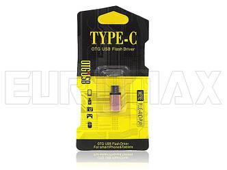 Переходник OTG металлический microUSB - Type C OTG-V8-TYPEC