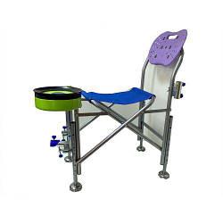 Кресло для рыбалки складной стул со спинкой и держателем для удочек SF23829