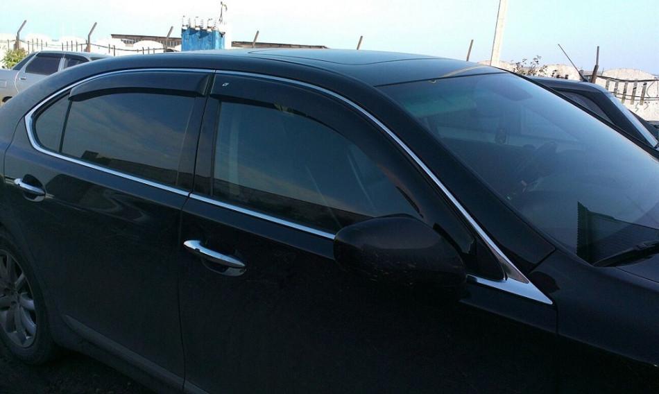 Дефлектори вікон вітровики на LEXUS Лексус LS 460 IV long(довжин.база) 2007-2012