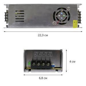 Блок питания для светодиодной ленты DC12 360W 30А STR-360 узкий с ЕМС фильтром, фото 2