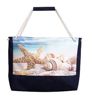 Пляжная сумка Морская звезда синяя