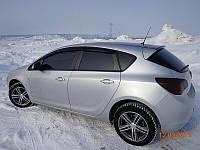 Дефлекторы окон ветровики на OPEL Опель Astra J hb 2010-