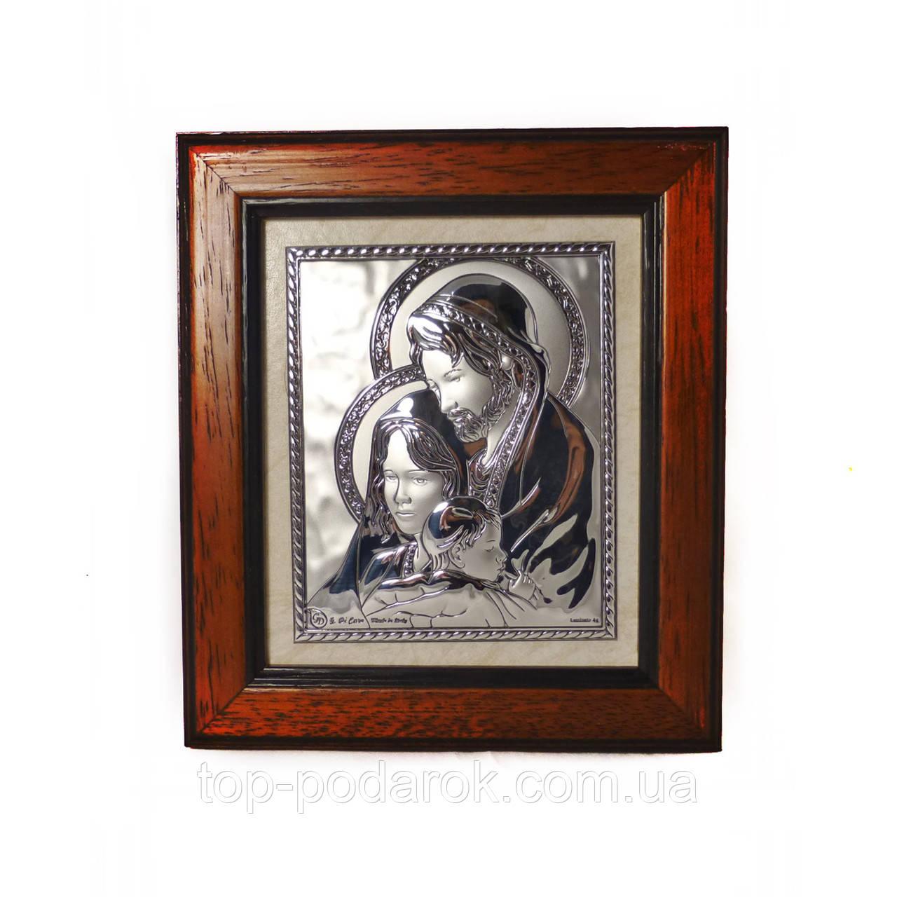 Икона Святое семейство в деревянной рамке
