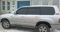 Дефлекторы окон ветровики на TOYOTA Тойота Land Cruiser 100 1998 Lexus LX (UZJ100) 1998-2001 EuroStandart
