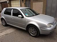 Дефлекторы окон ветровики на VOLKSWAGEN Фольксваген VW Golf IV 5d 1999-2005