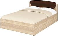 Кровать полуторная Милана Кр-140+1 ДСП  (Пехотин) 1430х2030х835 мм