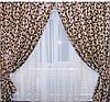 Комплект готовых штор  блэкаут, двусторонний. Цвет коричневый  044ш (А) 1м., фото 3
