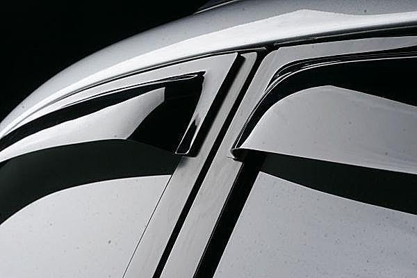 Дефлекторы окон ветровики на VOLKSWAGEN Фольксваген VW Touareg 2003-2007