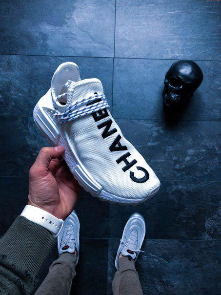 "Мужские кроссовки Adidas Human Race NMD ""Pharrell, топ Реплика"