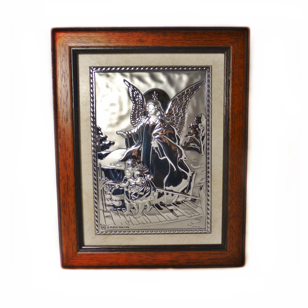 Икона Ангел хранитель в деревянной рамке
