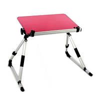 Столик подставка для ноутбука 14'' розовый