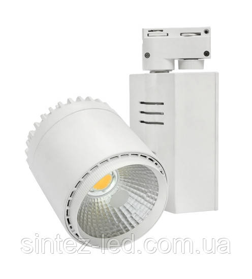 Светодиодный трековый светильник D30А  35W 3200K белый Код.58042